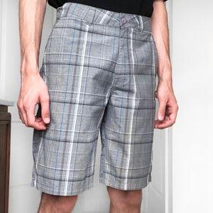 O'Neill Plaid Flat Front Shorts